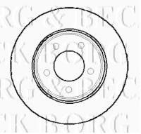 Borg & Beck BBD4017 - Disco de freno