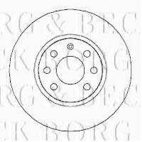 Borg & Beck BBD4253 - Disco de freno