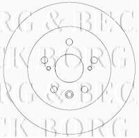 Borg & Beck BBD4325 - Disco de freno