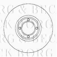 Borg & Beck BBD5723S - Disco de freno