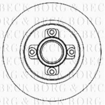 Borg & Beck BBD5940S - Disco de freno