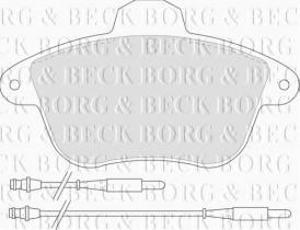 Borg & Beck BBP1159 - Juego de pastillas de freno