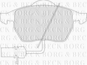 Borg & Beck BBP1447 - Juego de pastillas de freno