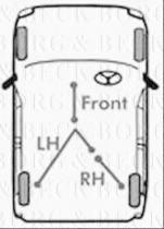 Borg & Beck BKB1 - Cable de accionamiento, freno de estacionamiento