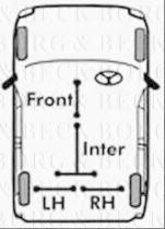 Borg & Beck BKB1023 - Cable de accionamiento, freno de estacionamiento