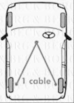 Borg & Beck BKB1109 - Cable de accionamiento, freno de estacionamiento
