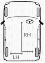 Borg & Beck BKB1125 - Cable de accionamiento, freno de estacionamiento