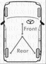 Borg & Beck BKB1168 - Cable de accionamiento, freno de estacionamiento