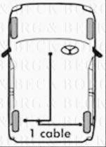 Borg & Beck BKB1277 - Cable de accionamiento, freno de estacionamiento