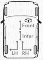 Borg & Beck BKB1514 - Cable de accionamiento, freno de estacionamiento