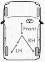 Borg & Beck BKB1918 - Cable de accionamiento, freno de estacionamiento