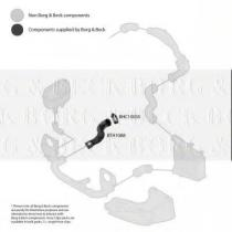 Borg & Beck BTH1088 - Tubo flexible de aire de sobrealimentación