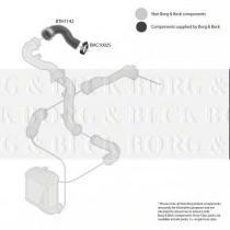 Borg & Beck BTH1142 - Tubo flexible de aire de sobrealimentación